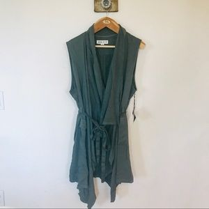 Ava & Viv cascading vest in army green NWT size 2X